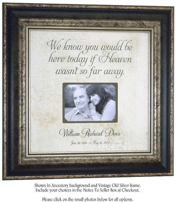 In Memory Of Mom, Remembrance Gift, Wedding Memorial, In Memory of ...