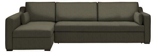 Whitman Pop Up Platform Sleeper Sofas With Chaise Modern Living