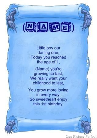 Short Poems For New Baby Personalised Poem Baby Boy Babies