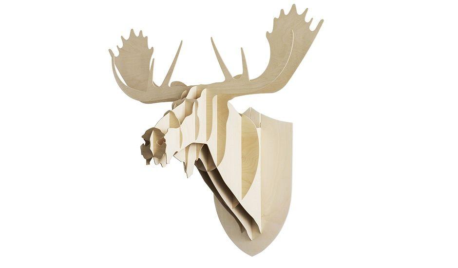 Moose Birch Trophy Head by Moustache  | MONOQI #bestofdesign