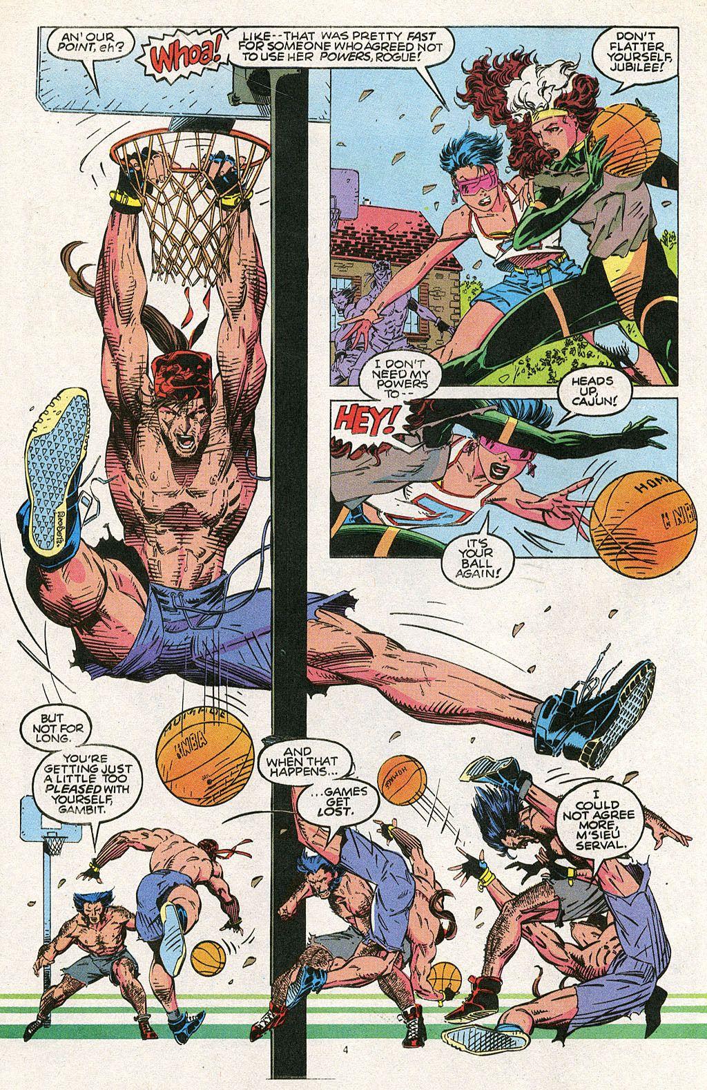X Sports Blue Team Basketball Game By Jim Lee X Men Vol 2 4 Jim Lee Art Comics Comic Art