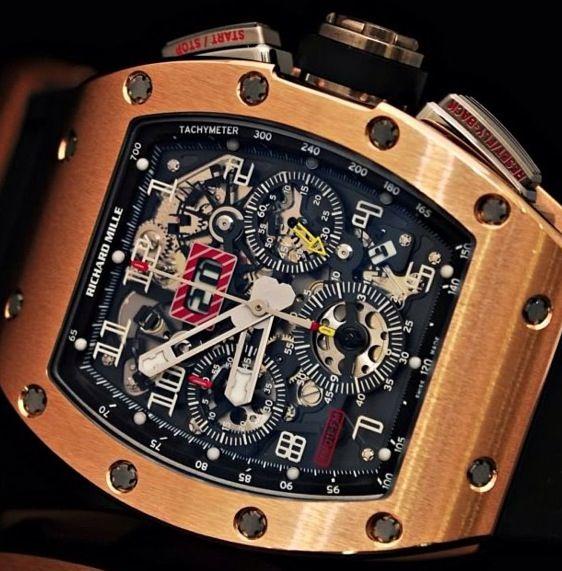 Richard Mille RM 011 in rose gold Hautetime.com
