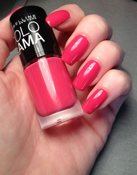 Maybelline Colorama, hot pink :)