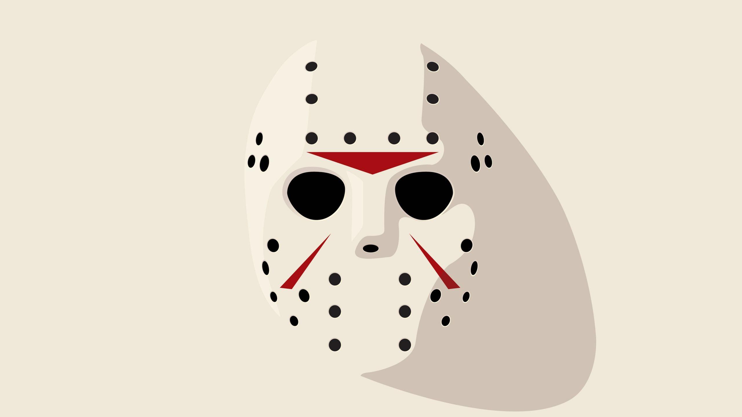 2560x1440 Wallpaper Jason Friday 13th Hockey Mask Art Wallpaper Mask Drawing Horror