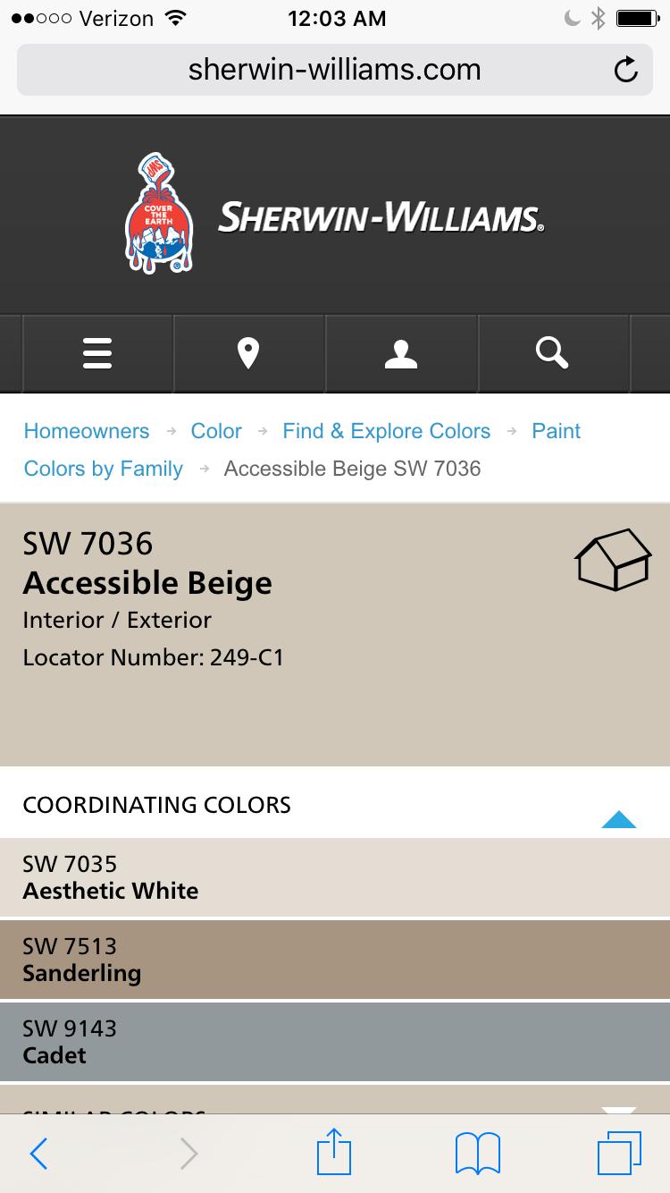 Accessible beige coordinating colors paint colors - Coordinating interior paint colors ...