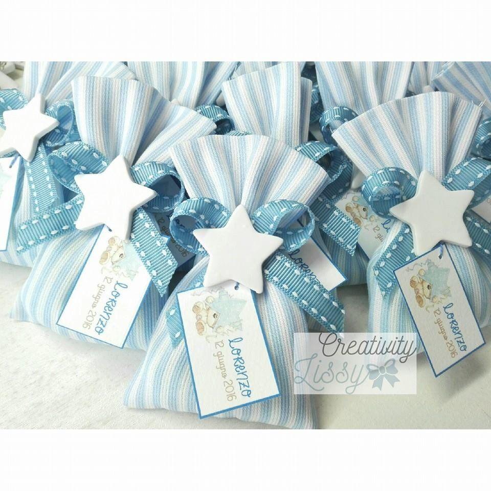 Sacchettino Stella Porta Confetti Come Cadeaux Bomboniera Nascita Battesimo Idee Per Il Battesimo Bomboniere Di Battesimo Nascita