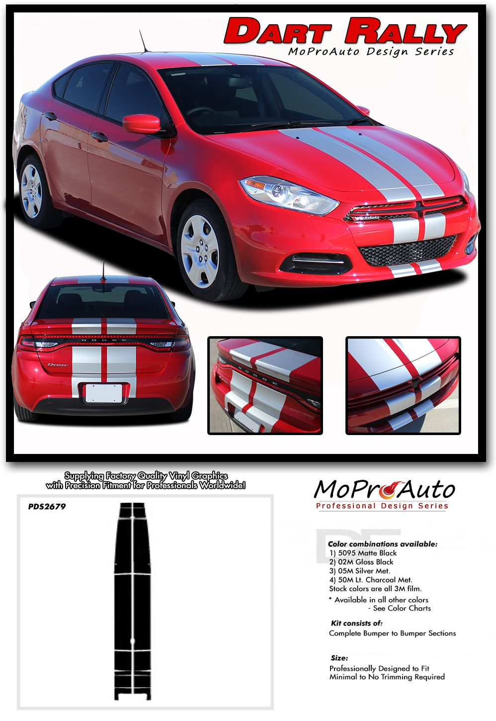 2013 2014 2015 2016 dodge dart racing and rally stripes mopar oem style vinyl graphics decals and stripes kits professional style vinyl graphics kit