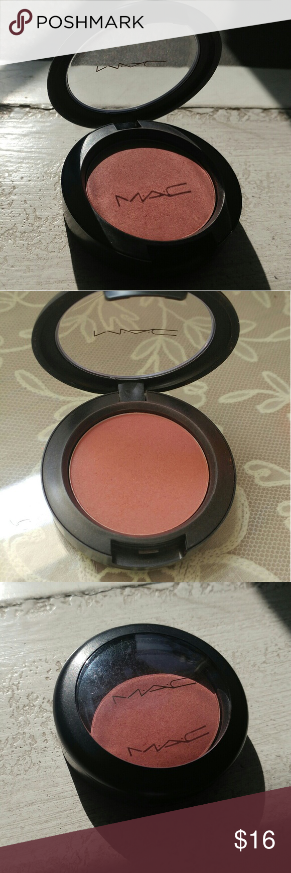 """MAC make you mine blush Mac pro blusher in the shade """"Make you Mine."""" Beautiful, highly pigmented color. Only used a couple times. Authentic. MAC Cosmetics Makeup Blush"""