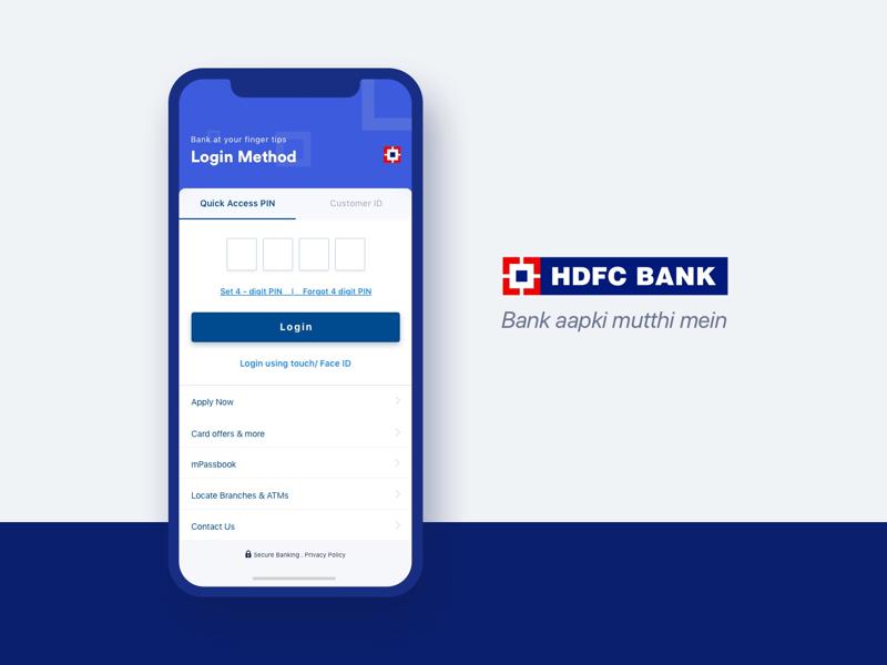 Hdfc Bank App Login Screen Banking App App Login You Changed
