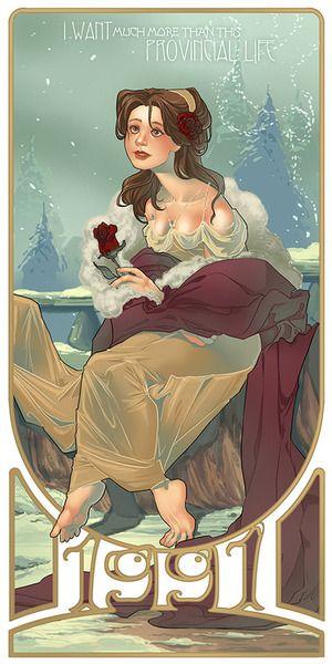 Belle is the first in the Disney heroine series - LettieBoBettie (Tumblr)