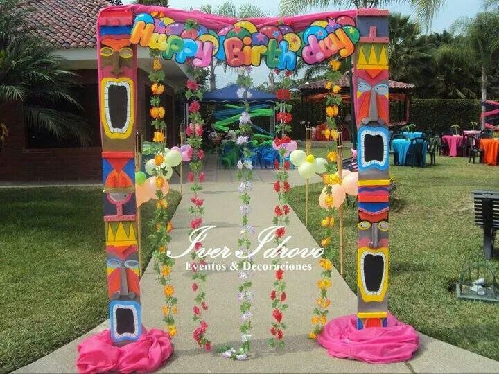 decoracion hawaii cumplea os pinterest moana luau