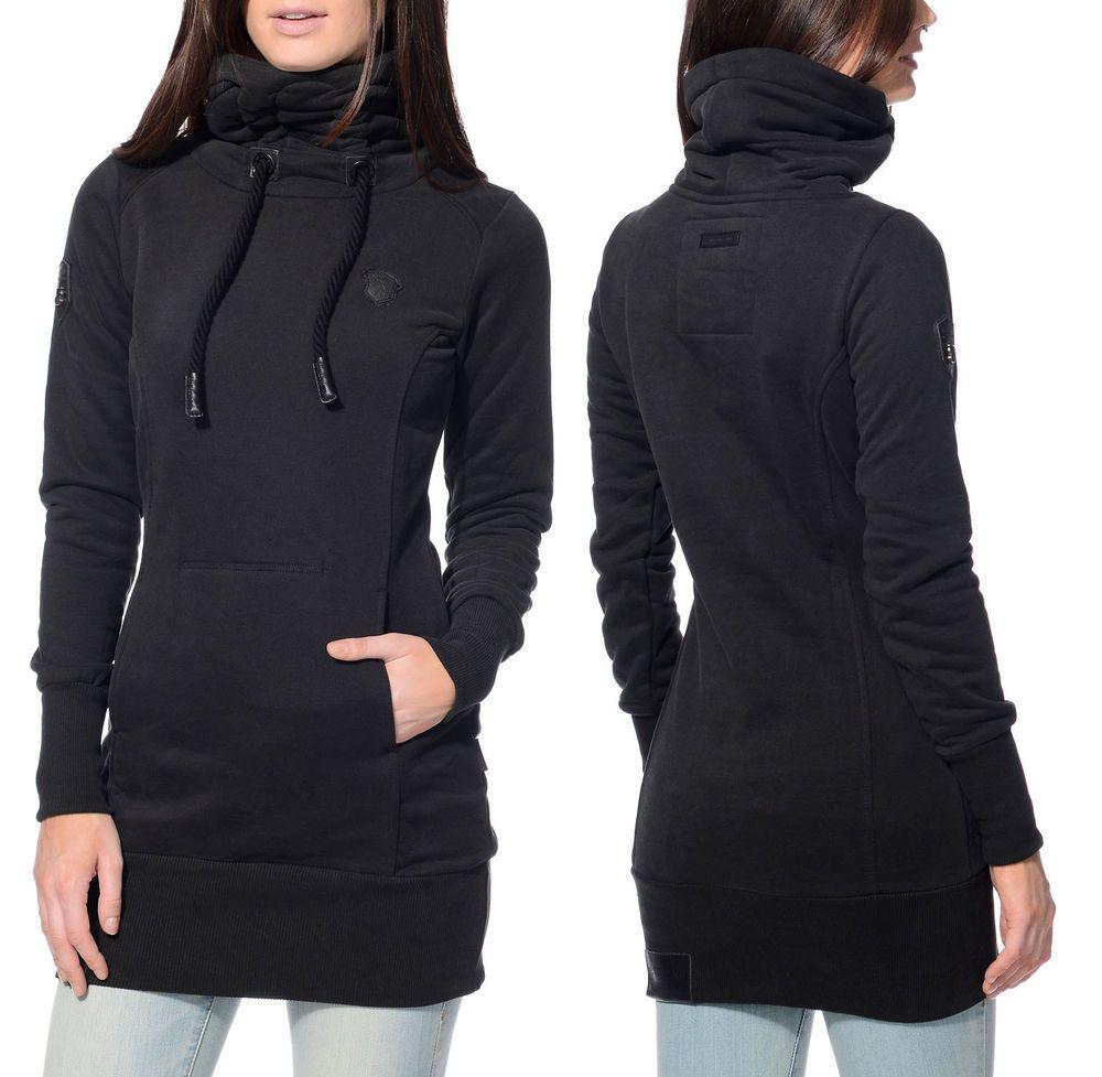 NWOT Naketano Black Salami Jones Pull Over Long Sweater Womens S ...