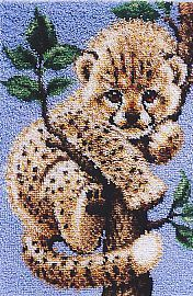 Jp J P Coats Cheetah Latch Hook Rug Pattern