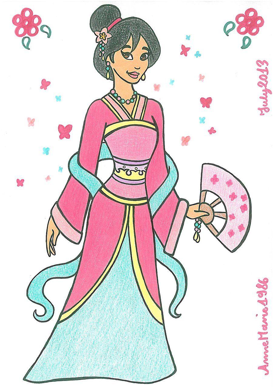 mulan deviantART   AT-Princess Mulan 2 by AnneMarie1986   ♡Mulan ...