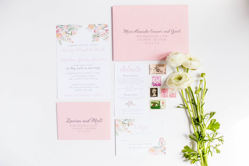Blush Floral Wedding Suite - perfect for a spring wedding!