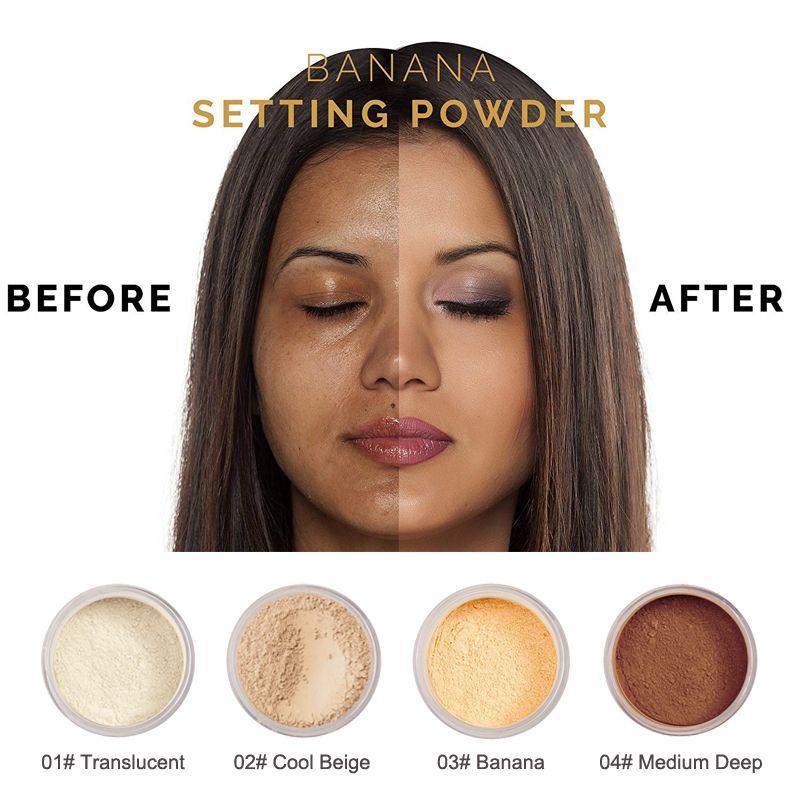 Phoera Lightweight Loose Setting Powder No Foundation Makeup Matte Face Powder Powder Makeup
