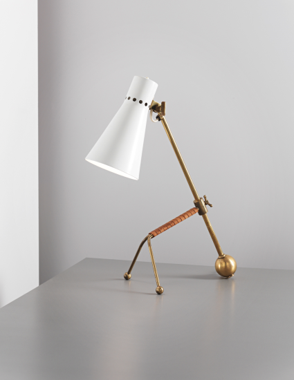 Tapio Wirkkala, Adjustable table lamp, model no. K11-16 circa 1958 Manufactured by Idman, Finland.