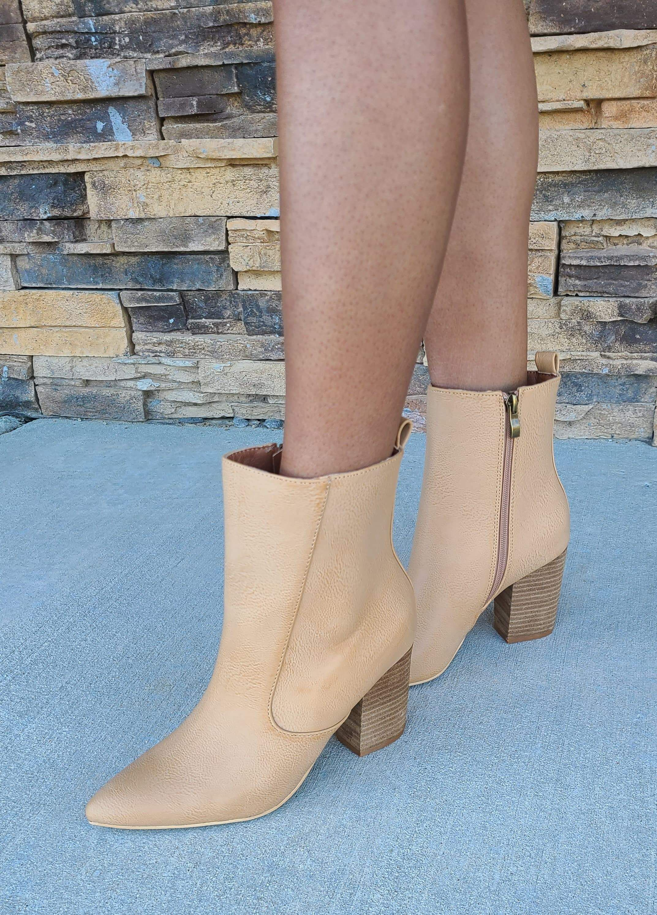 Photo of Toffee Bootie – SIZE 6.5