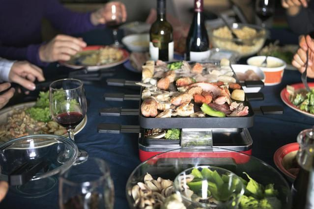 How to Throw a Raclette Dinner Party | Raclette dinner party, Raclette party,  Raclette recipes dinners