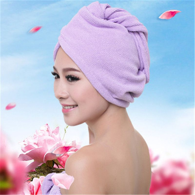 6 Colors Solid Quickly Dry Hair Hat Lovely Drying Bath Towel Makeup Cosmetics Hair Towel Head Wrap T