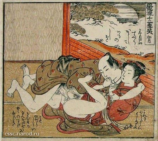 Япония гравюры секс