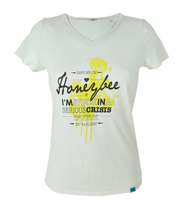 Honeybee // CHARITY: Your purchase help to protect the bees! www.beegood.de // FAIR: Produced under fair and sweat-shop-free conditions // ORGANIC: Sustainable grown organic cotton // DESIGN The artwork is created during regular animal enrichment activities by the Orang-Utan Barito.