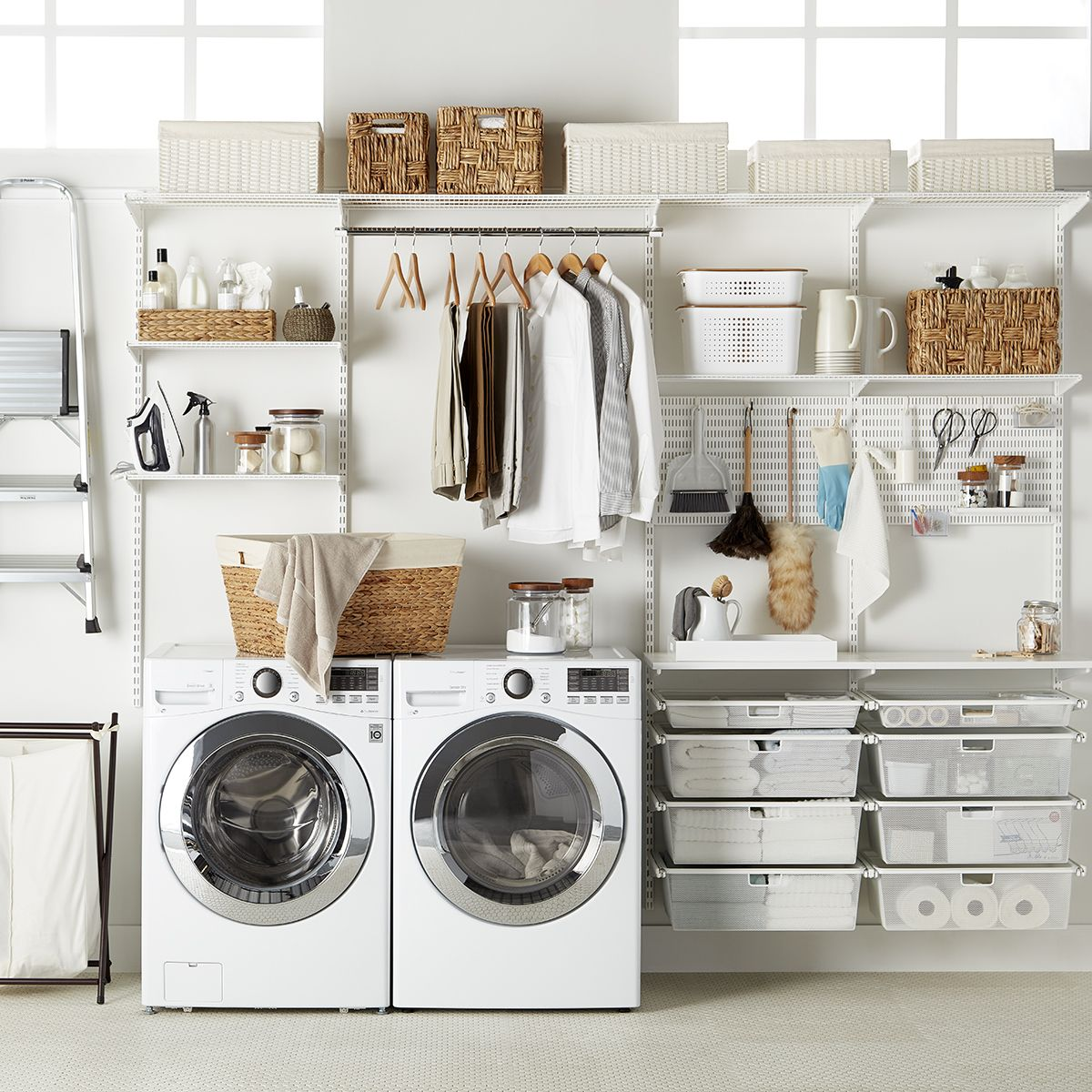Sort Out Your Laundry Room Challenges With Our Exclusive Elfa Shelving And Drawer System