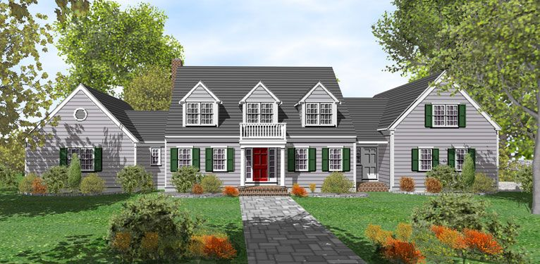 2 Story Cape Cod House Plans For Sale