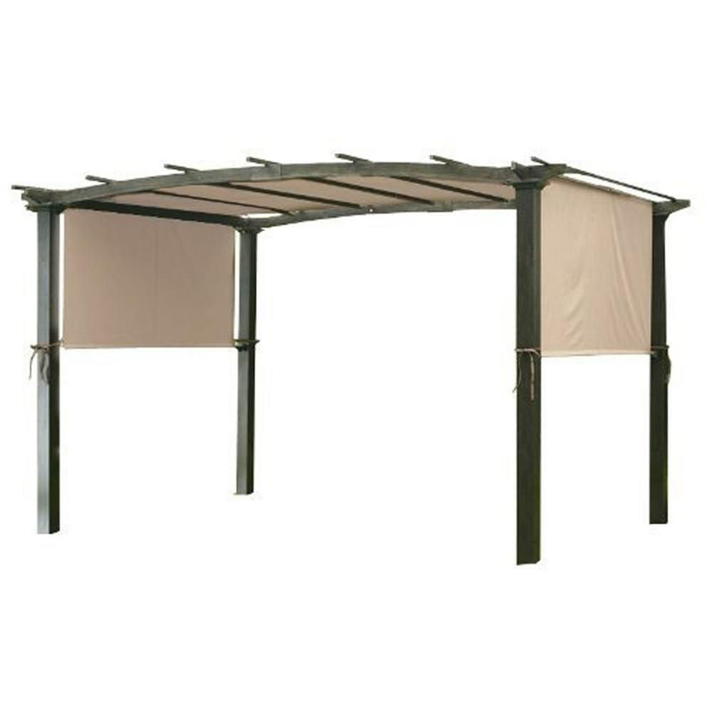 Garden Winds Universal Replacement Canopy Top Cover In Beige For Metal Pergola Frame Lcm490b The Home Depot Pergola Canopy Metal Pergola Patio Canopy