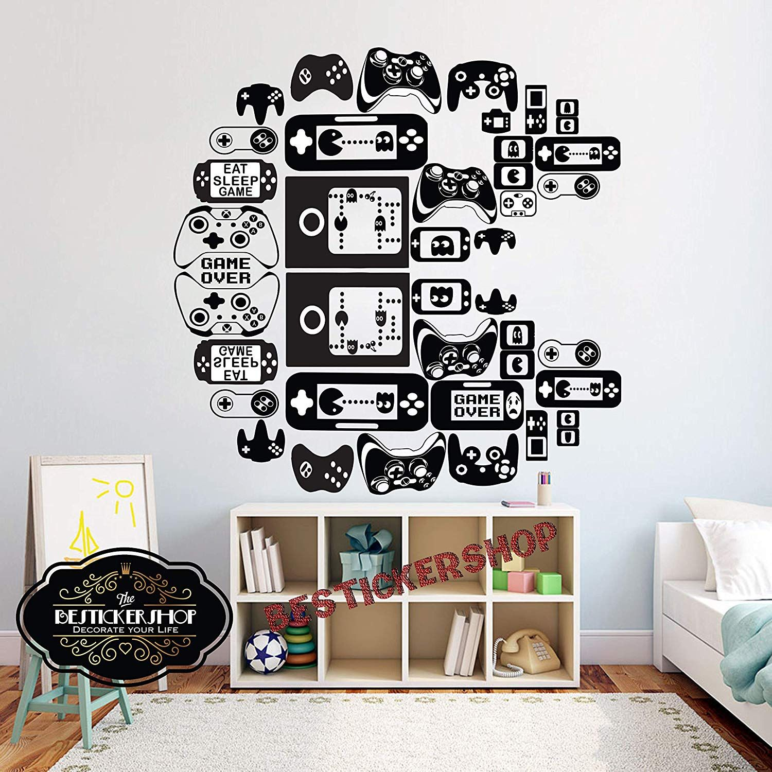 Pacman Icons Wall Decals Vinyl Wall Decals Decal Wall Art
