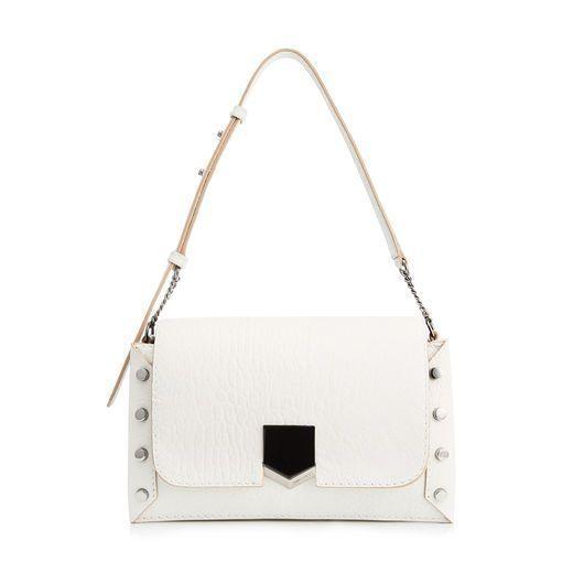 507cfc8c998 JIMMY CHOO LOCKETT SHOULDER BAG Chalk Grainy Leather Shoulder Bag.   jimmychoo  bags  shoulder bags  leather