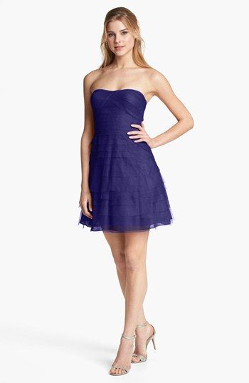 Adrianna Papell Tiered Mesh Fit & Flare Dress available at #Nordstrom