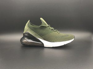 d8b857f899bc Mens Nike Air Max 270 Flyknit Sneakers Olive Green White