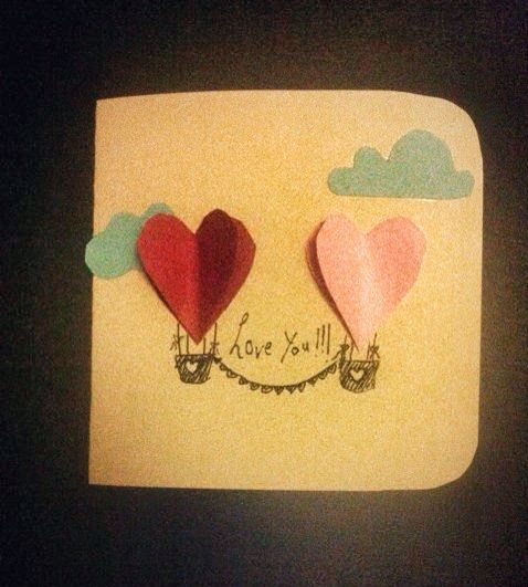 My valentines card! Cute and simple idea for your loved one.