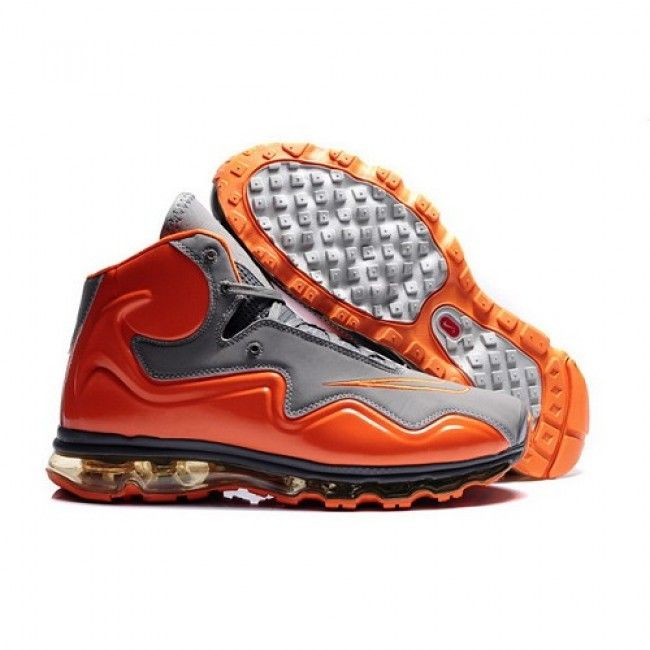 New Fashion Nike Air Max Flyposite Men Orange/Grey Basketball Shoes 1007  For $72.00 Go