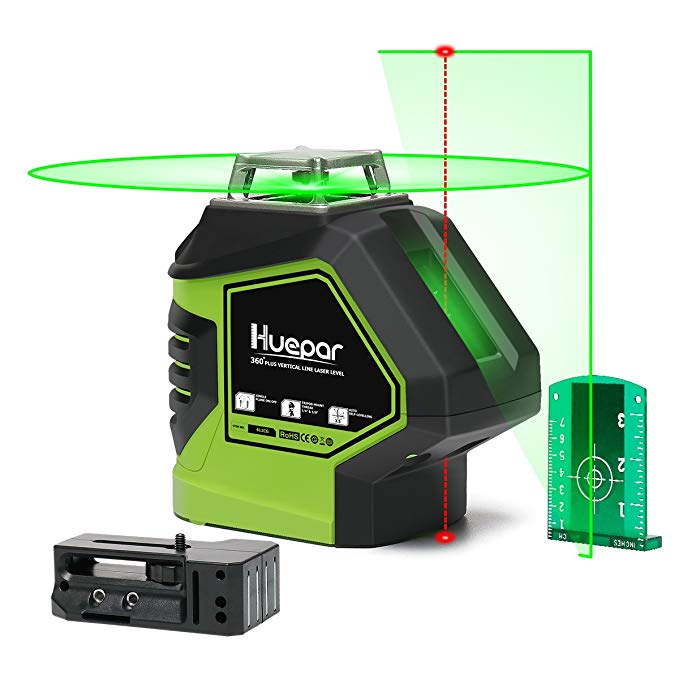 Huepar Self Leveling Green Laser Level 360 Cross Line With 2 Plumb Dots Laser Tool 360 Degree Horizontal Line Plus Large Fa In 2020 With Images Laser Levels Green Laser Large Fan