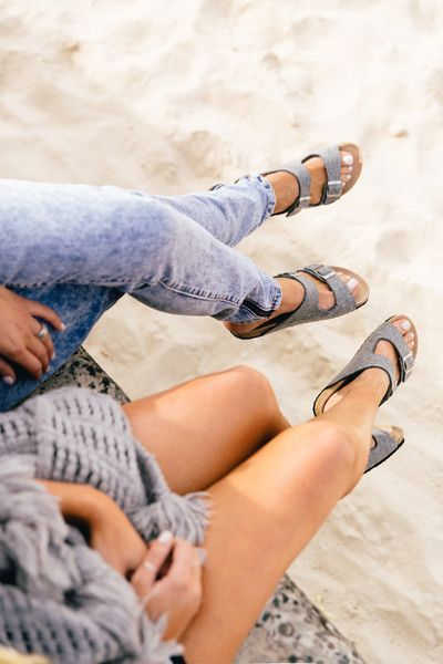 87a4ebc00b3 Love matching shoes with my bestie  ) Grey Birkenstocks