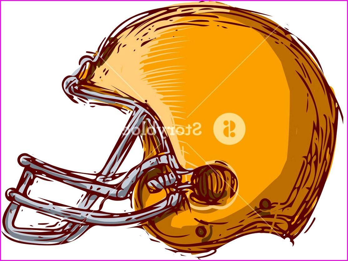Football helmet line drawing american helmet line
