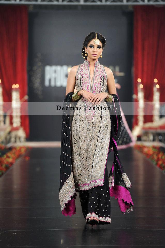 Black Fully Embroidered Pakistani Formal Dress - Latest ...