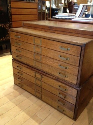 Sterling Place Stacking Oak Map Drawers Http Www Sterlingplace