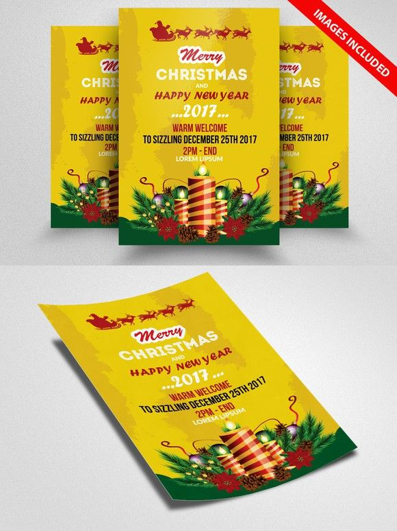 Christmas Event Flyer Template  Flyers Vintage And Poster