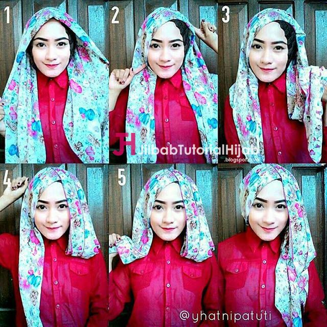 tutorial hijab segi empat simple tapi mewah dan elegant http jilbabtutorialhijab blogspot