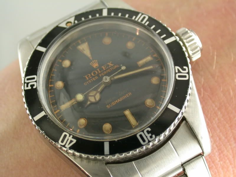 My New 1957 Rolex Milsub A Big Crown James Bond A 6538 Other