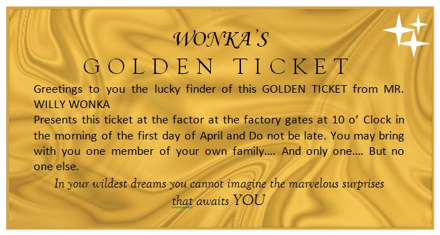 Golden-Ticket-Template | Derek Birthday Party | Pinterest | Golden ...