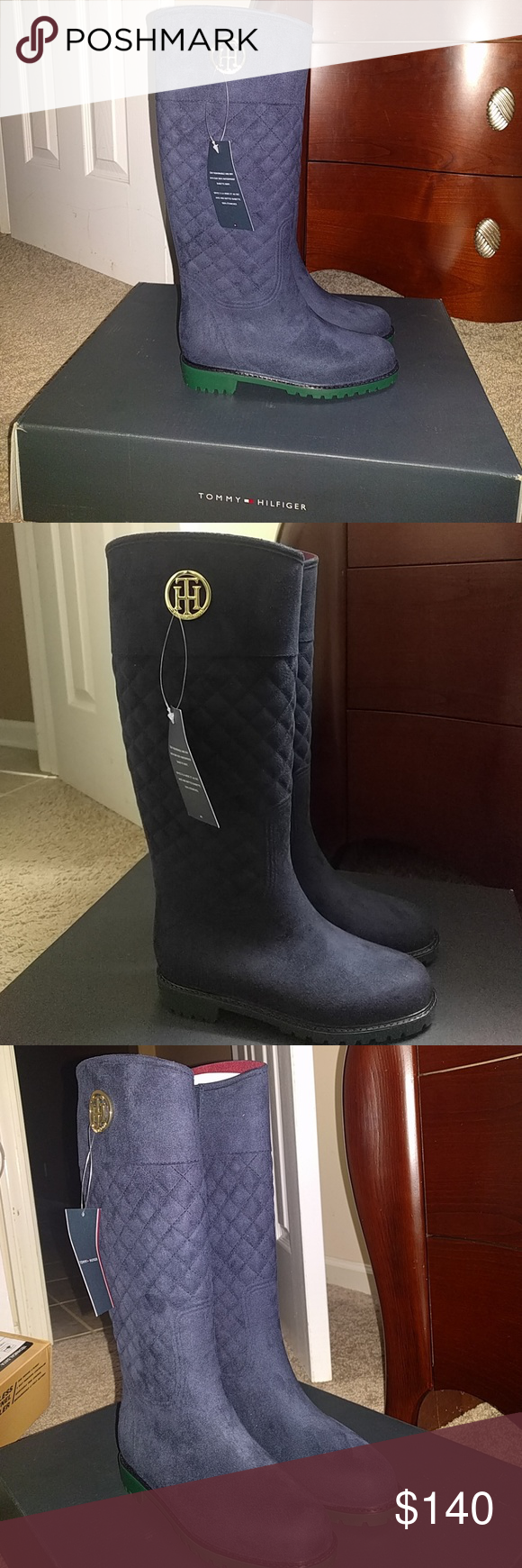 Tommy Hilfiger weather proof Rain Boots size 7 100