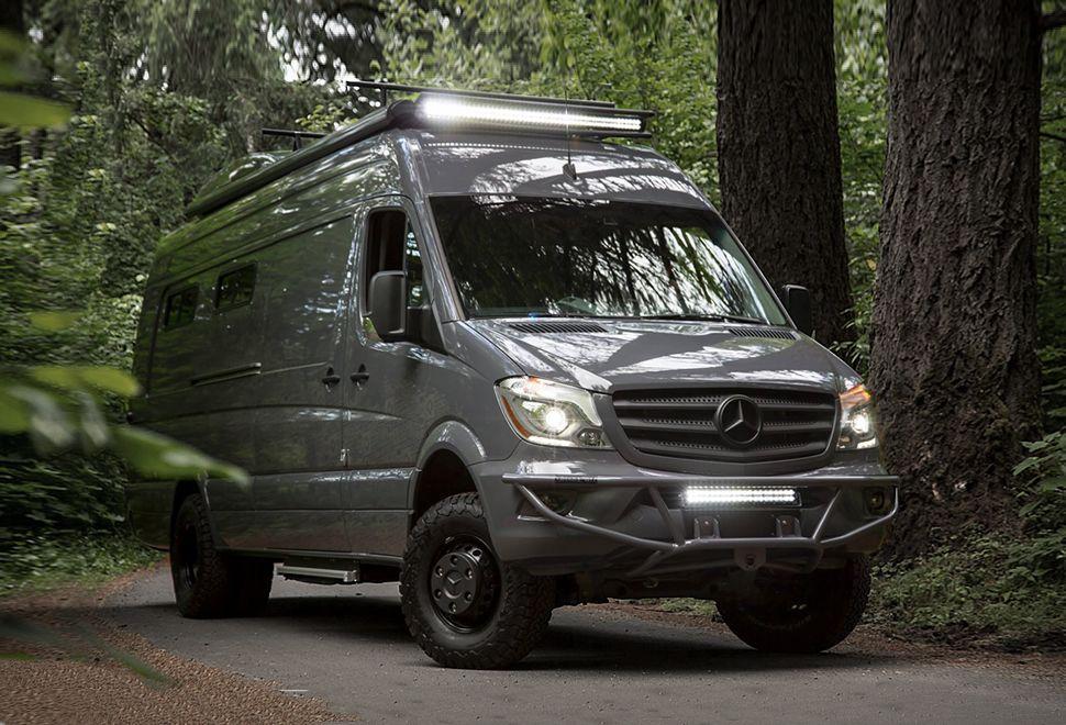 Outside Van With Images Mercedes Sprinter Mercedes Van