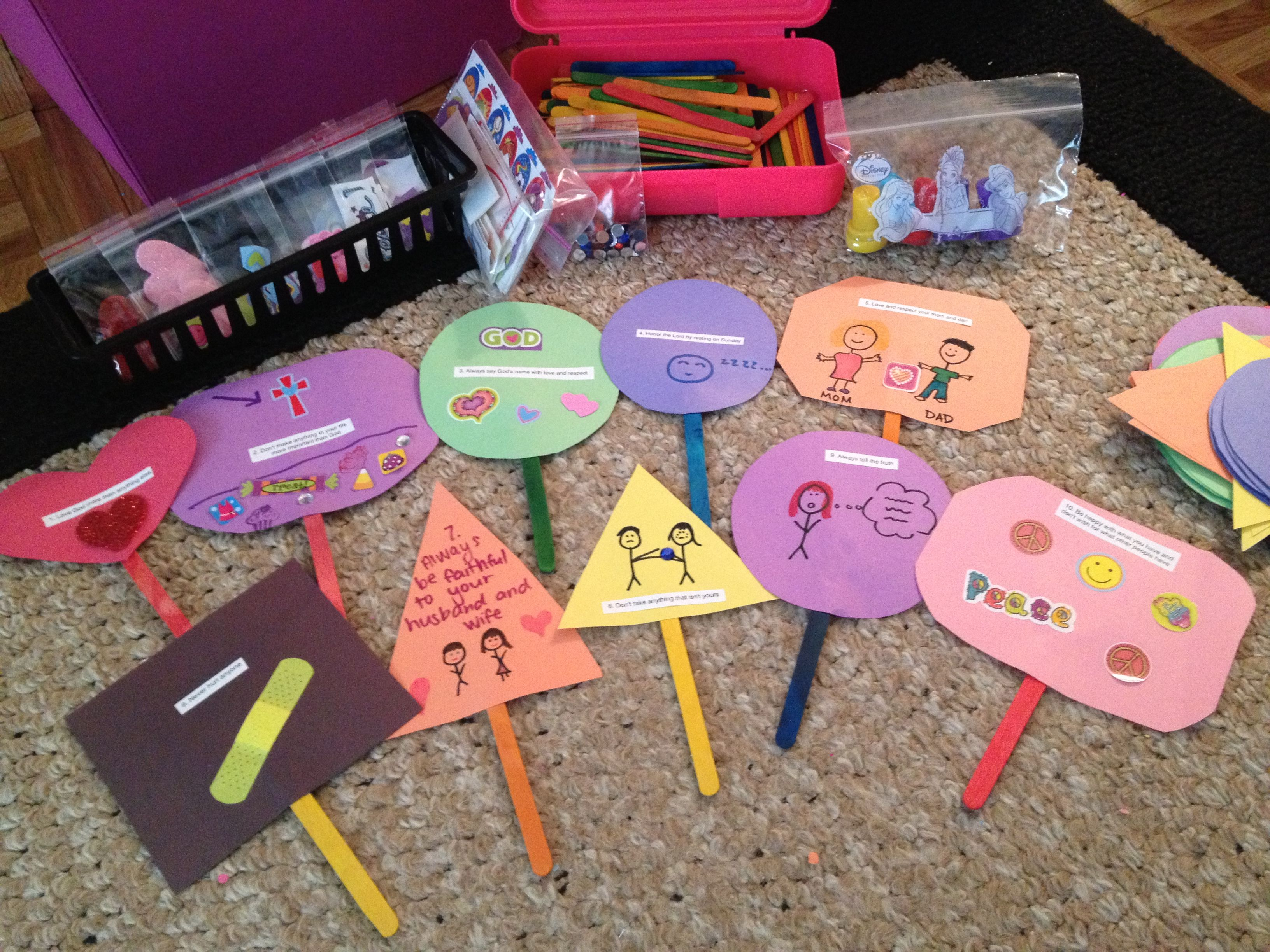 11++ 10 commandments crafts for kindergarten ideas in 2021