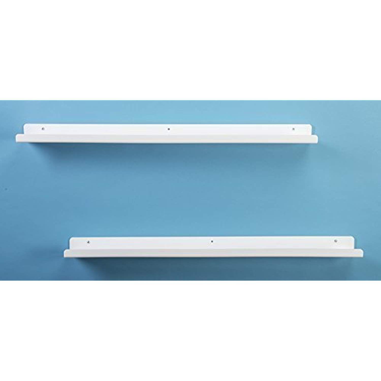 Unum Set Of Two 36 White Acrylic Floating Shelves Picture Display Ledge Wall Shelf Modern Design 36 Long X Floating Shelves White Floating Shelves Shelves