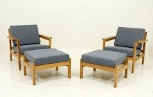 pair borge mogensen lounge chairs