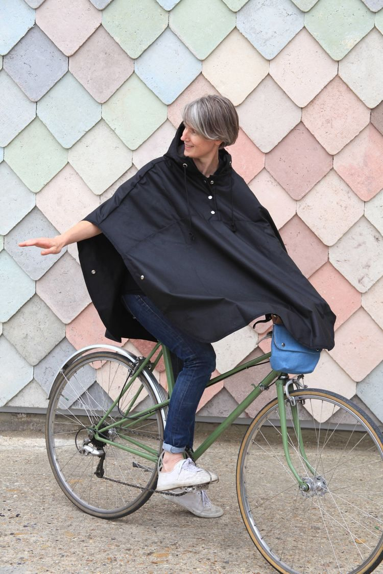 Wax Cotton Cycling Bike Cape Waxed Oilcloth Rain